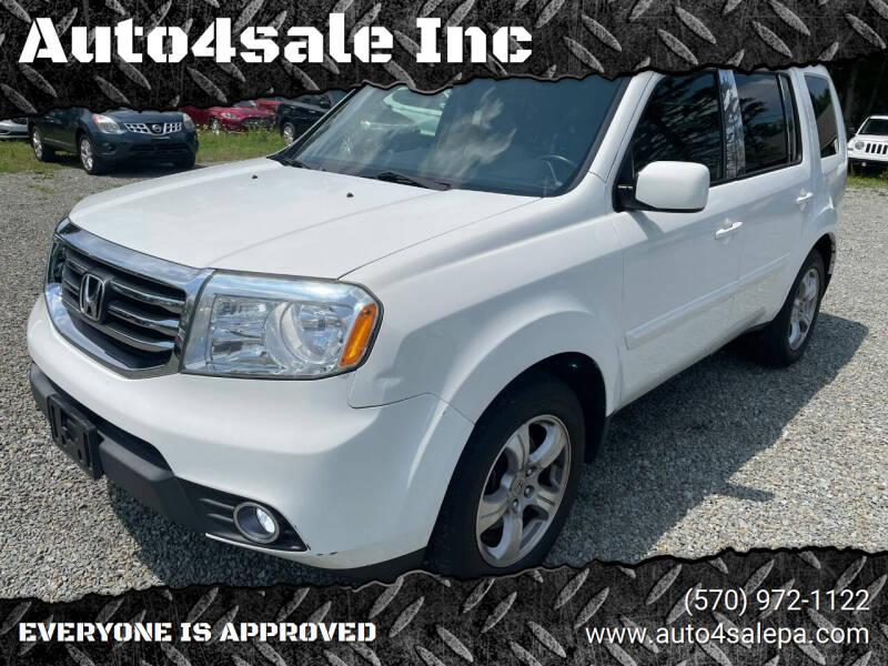 2013 Honda Pilot for sale at Auto4sale Inc in Mount Pocono PA