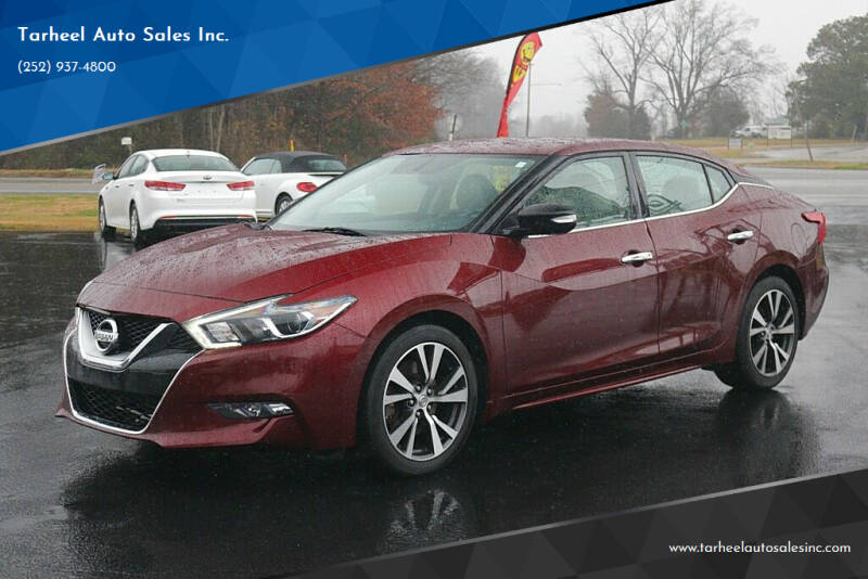 2016 Nissan Maxima for sale at Tarheel Auto Sales Inc. in Rocky Mount NC