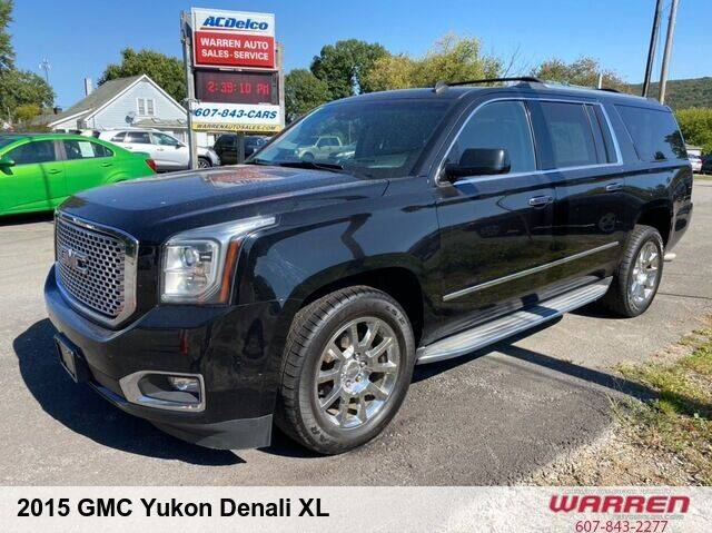 2015 GMC Yukon XL for sale at Warren Auto Sales in Oxford NY