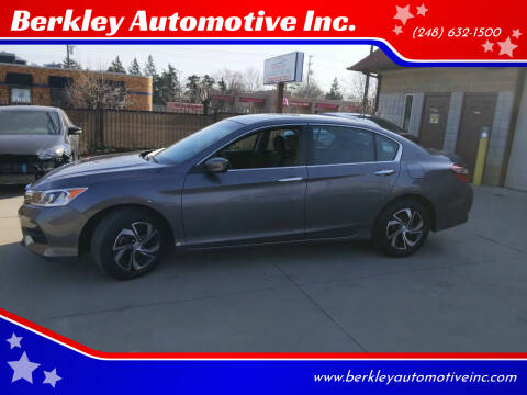 2017 Honda Accord for sale at Berkley Automotive Inc. in Berkley MI