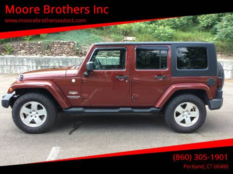 2010 Jeep Wrangler Unlimited for sale at Moore Brothers Inc in Portland CT