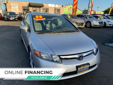 2008 Honda Civic for sale at Super Cars Sales Inc #1 - Super Auto Sales Inc #2 in Modesto CA