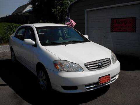 2003 Toyota Corolla for sale at Marty's Auto Sales in Lenoir City TN