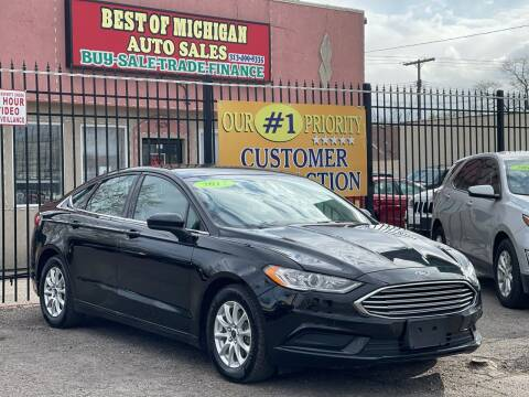 2017 Ford Fusion for sale at Best of Michigan Auto Sales in Detroit MI