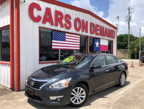 2015 Nissan Altima for sale at Cars On Demand 2 in Pasadena TX