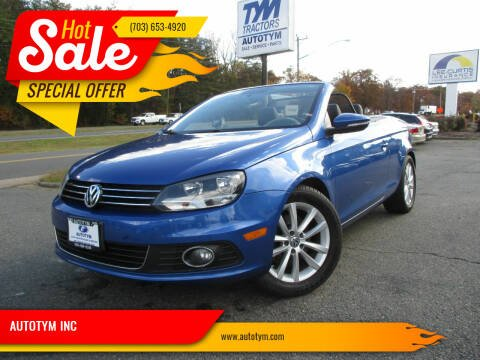 2012 Volkswagen Eos for sale at AUTOTYM INC in Fredericksburg VA