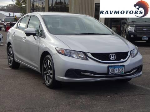 2015 Honda Civic for sale at RAVMOTORS 2 in Crystal MN