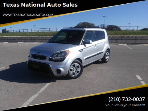 2012 Kia Soul for sale at Texas National Auto Sales in San Antonio TX