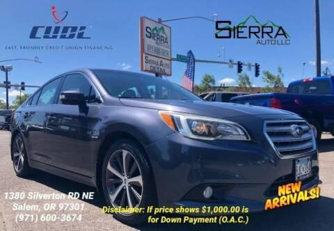 2015 Subaru Legacy for sale at SIERRA AUTO LLC in Salem OR