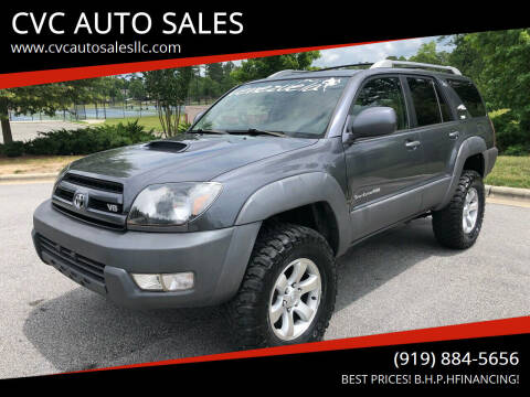 2003 Toyota 4Runner for sale at CVC AUTO SALES in Durham NC