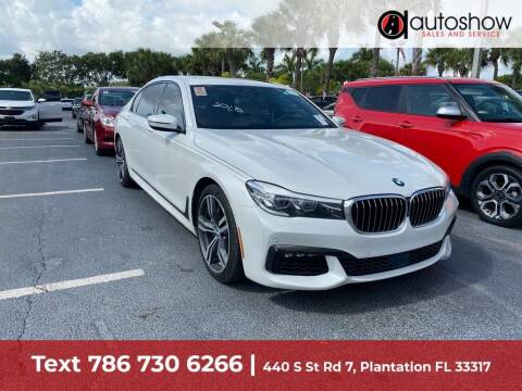 2016 BMW 7 Series for sale at AUTOSHOW SALES & SERVICE in Plantation FL