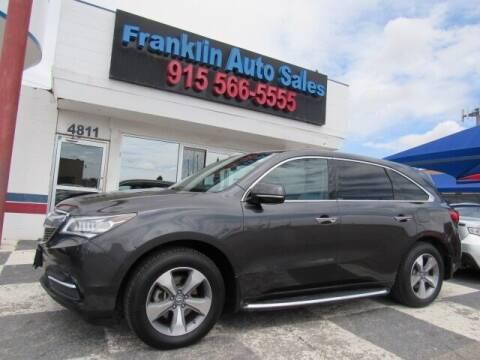 2014 Acura MDX for sale at Franklin Auto Sales in El Paso TX