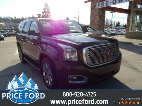 2016 GMC Yukon for sale at Price Ford Lincoln in Port Angeles WA