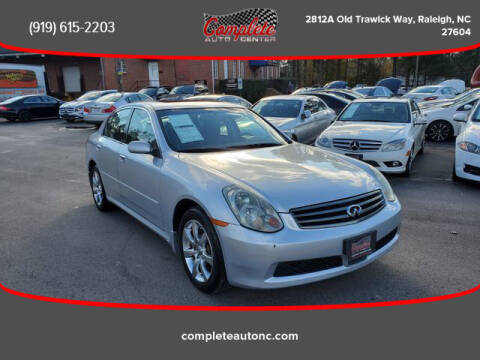 2006 Infiniti G35 for sale at Complete Auto Center , Inc in Raleigh NC