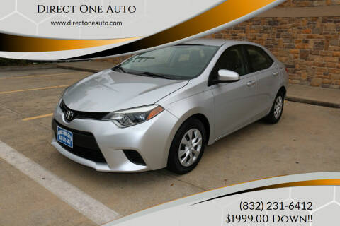 2014 Toyota Corolla for sale at Direct One Auto in Houston TX