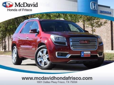 2015 GMC Acadia for sale at DAVID McDAVID HONDA OF IRVING in Irving TX