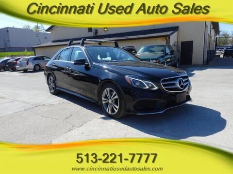 2015 Mercedes-Benz E-Class for sale at Cincinnati Used Auto Sales in Cincinnati OH