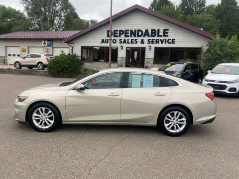 2016 Chevrolet Malibu for sale at Dependable Auto Sales and Service in Binghamton NY