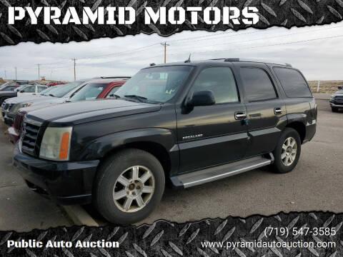 2005 Cadillac Escalade for sale at PYRAMID MOTORS - Pueblo Lot in Pueblo CO