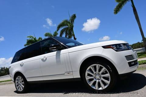 2016 Land Rover Range Rover for sale at MOTORCARS in West Palm Beach FL