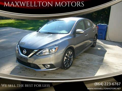 2019 Nissan Sentra for sale at MAXWELLTON MOTORS in Greenwood SC