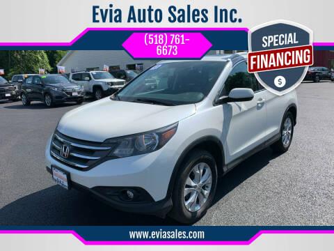 2013 Honda CR-V for sale at Evia Auto Sales Inc. in Glens Falls NY