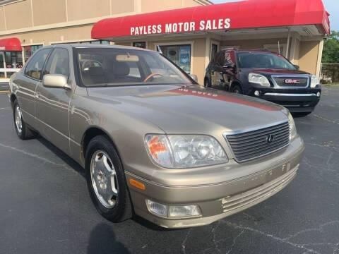 2000 Lexus LS 400 for sale at Payless Motor Sales LLC in Burlington NC