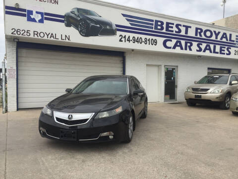 2012 Acura TL for sale at Best Royal Car Sales in Dallas TX