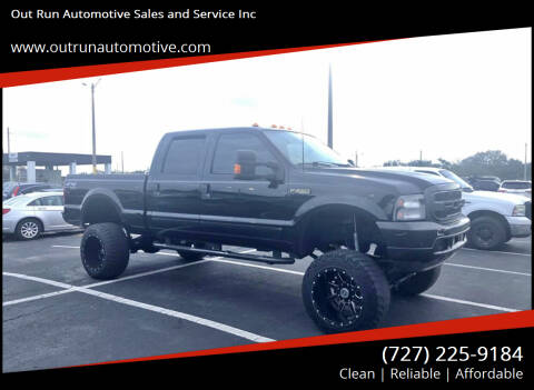 2002 Ford F-250 Super Duty for sale at Out Run Automotive Sales and Service Inc in Tampa FL
