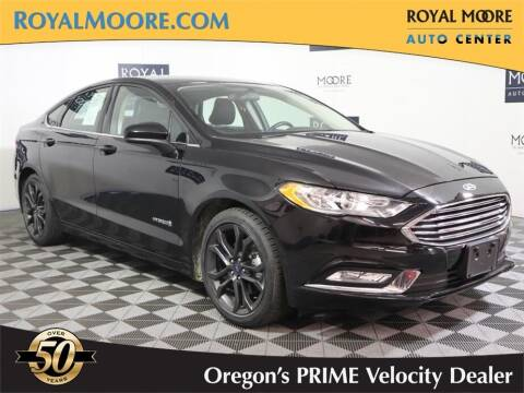 2018 Ford Fusion Hybrid for sale at Royal Moore Custom Finance in Hillsboro OR