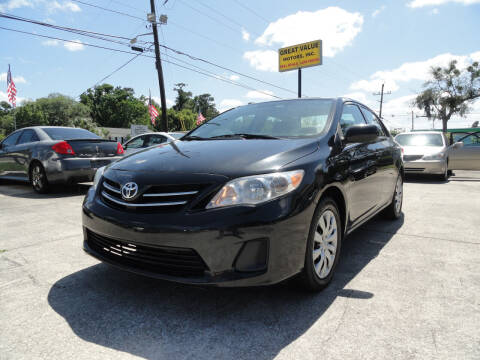 2013 Toyota Corolla for sale at GREAT VALUE MOTORS in Jacksonville FL