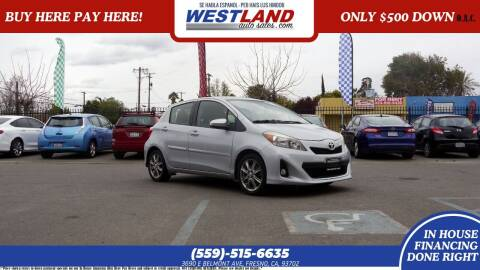 2012 Toyota Yaris for sale at Westland Auto Sales on 7th in Fresno CA