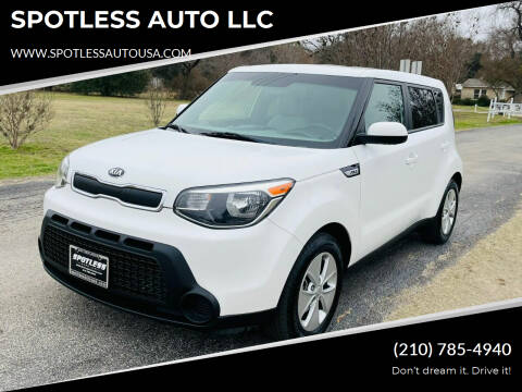 2016 Kia Soul for sale at SPOTLESS AUTO LLC in San Antonio TX