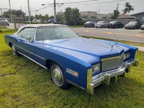 1975 Cadillac Eldorado for sale at Car Mart Leasing & Sales in Hollywood FL