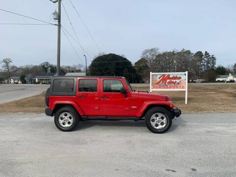 2014 Jeep Wrangler Unlimited for sale at Madden Motors LLC in Iva SC