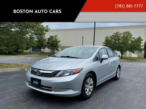 2012 Honda Civic for sale at Boston Auto Cars in Dedham MA