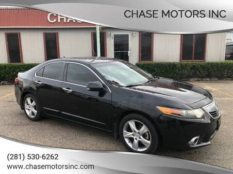 2012 Acura TSX for sale at Chase Motors Inc in Stafford TX
