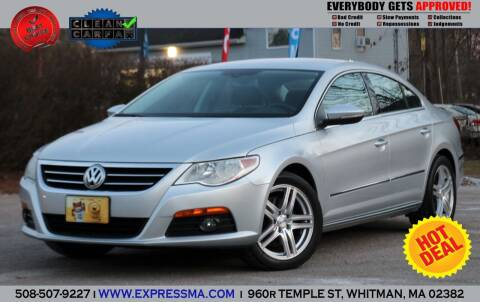 2010 Volkswagen CC for sale at Auto Sales Express in Whitman MA