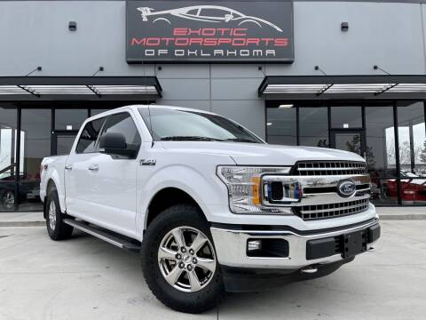 2018 Ford F-150 for sale at Exotic Motorsports of Oklahoma in Edmond OK