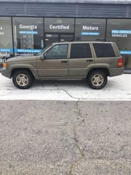 1998 Jeep Grand Cherokee for sale at Georgia Certified Motors in Stockbridge GA