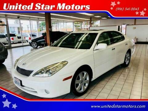 2005 Lexus ES 330 for sale at United Star Motors in Sacramento CA