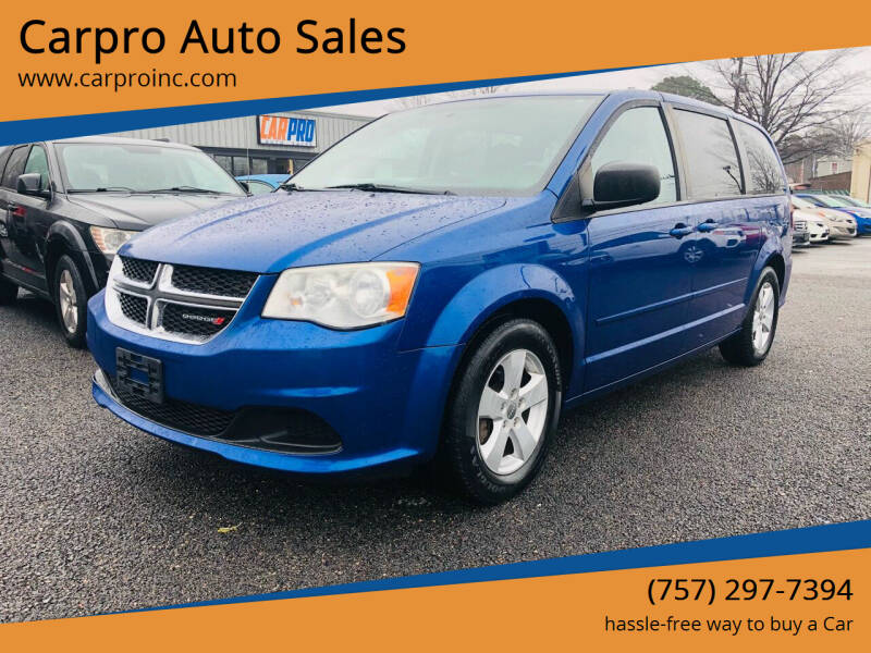 2013 Dodge Grand Caravan for sale at Carpro Auto Sales in Chesapeake VA