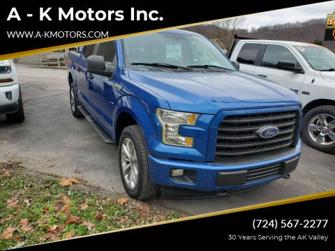 2017 Ford F-150 for sale at A - K Motors Inc. in Vandergrift PA