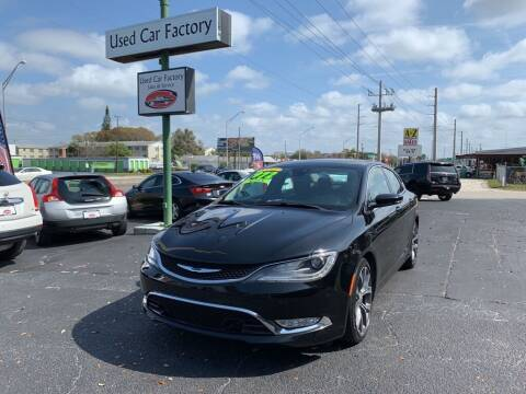2015 Chrysler 200 for sale at Used Car Factory Sales & Service in Bradenton FL