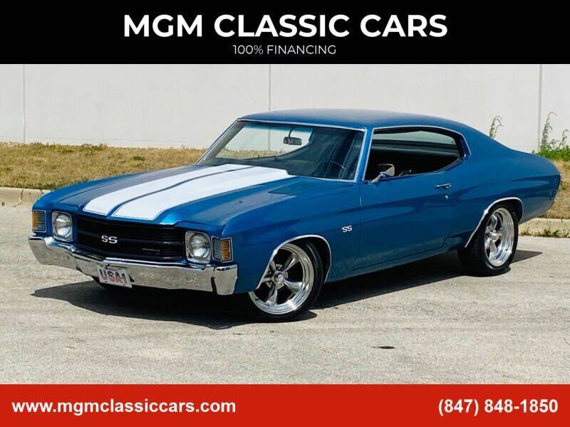 1972 Chevrolet Chevelle for sale at MGM CLASSIC CARS-New Arrivals in Addison IL