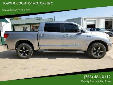 2010 Toyota Tundra for sale at TOWN & COUNTRY MOTORS INC in Meriden KS