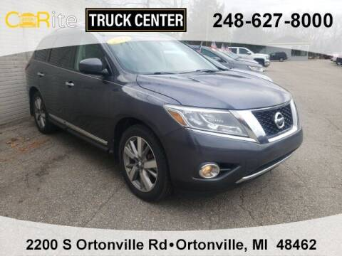 2014 Nissan Pathfinder for sale at Carite Truck Center in Ortonville MI