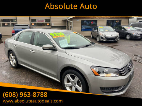 2013 Volkswagen Passat for sale at Absolute Auto in Baraboo WI