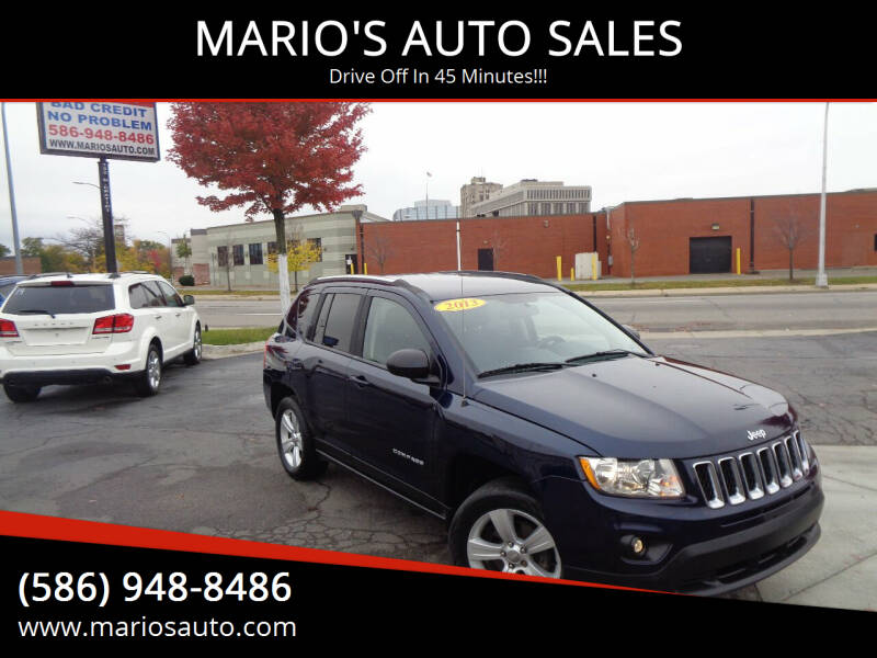 2013 Jeep Compass for sale at MARIO'S AUTO SALES in Mount Clemens MI
