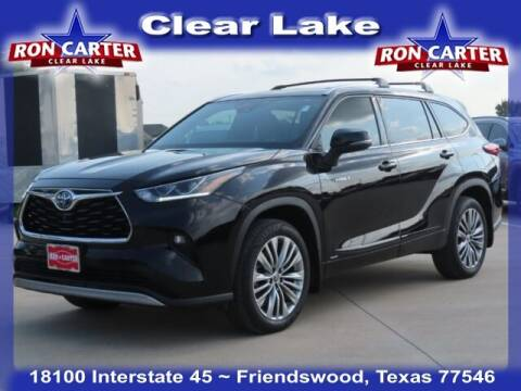 2020 Toyota Highlander Hybrid for sale at Ron Carter  Clear Lake Used Cars in Houston TX